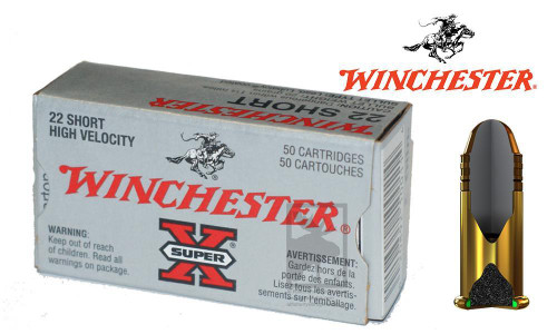 WINCHESTER SUPER-X HIGH VELOCITY .22 SHORT, 29 GRAIN BOX OF 50