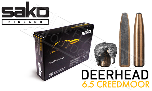 Sako 6.5 Creedmoor Deerhead, JSP Bonded Core 156 Grain Box of 20 #C663123HSA10