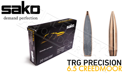 Sako 6.5 Creedmoor TRG Precision, JHP Boat Tail 136 Grain Box of 20 #C663160HSA10