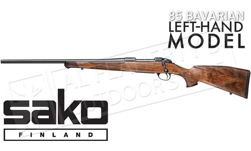 Sako 85 Bavarian Rifle Left-Handed with Open Sights, Various Calibers #SCW