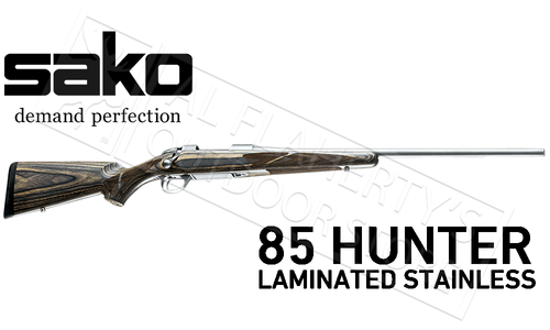 Sako 85 Grey Wolf Rifle in Stainless Steel with Laminate Stock #JRS2Cxx
