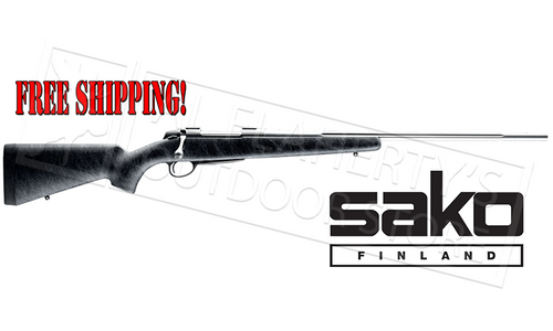 Sako A7 Stainless Roughtech Pro Rifle, Black with Fluted Barrel - Various Calibers #A7PROSS