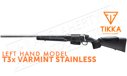 Tikka T3x Varmint Stainless Rifle, Left Handed - Various Calibers