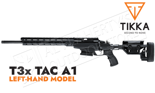 Tikka T3x TAC A1 Rifle, Left Handed - Various Calibers