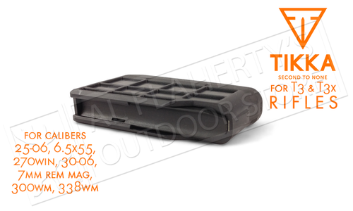 Tikka T3 and T3X Magazine, 3-Round, Calibers .25-06, 6.5x55, .270win, .30-06, 7mm Rem Mag, .300WM, .338WM #S5850373