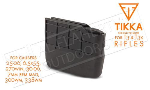 Tikka Magazine T3 and T3X, 4-5 Round, Calibers .25-06, 6.5x55, .270win, .30-06, 7mm Rem Mag, .300WM, .338WM #S5850375