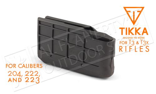 Tikka Magazine T3 and T3x, 4-Round, Calibers .204, .222, .223 #S5850370