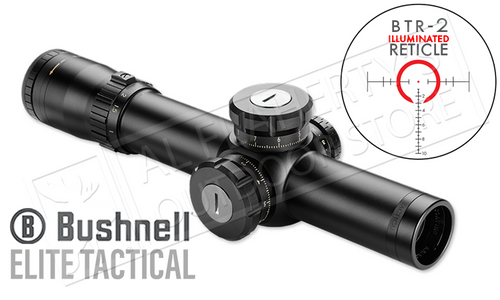 Bushnell Elite Tactical SMRS FFP Scope 1-8.5x24mm with Illuminated BTR-2 Reticle #ET18524