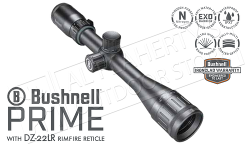 Bushnell Prime 3.5-10x36mm Rimfire Scope with DZ-22LR Reticle and Front Parallax Adjustment #RP3103BS4
