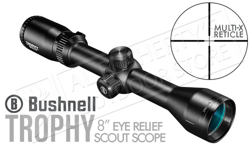 "Bushnell Trophy Scout Scope 2-7x36mm with Multi-X Reticle, 8"" Eye Relief #752736S"