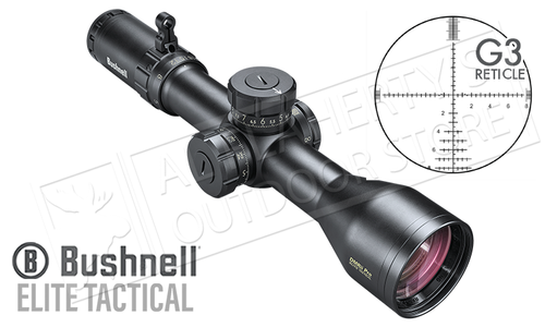 Bushnell Elite Tactical DMR II Pro FFP Scope, 3.5-21x50mm with G3 Reticle and Side Parallax #ET732150ED