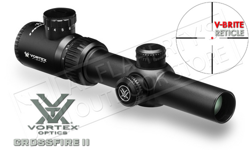 Vortex Crossfire II 1-4x24mm Scope with V-Brite Illuminated Reticle #CF2-31037