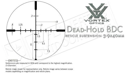 Vortex Diamondback 3-9x40mm Scope with Dead Hold BDC Reticle #DBK-01-BDC