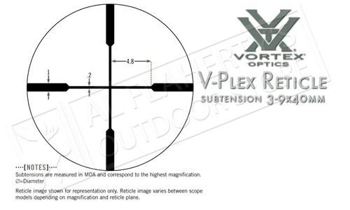 Vortex Diamondback 3-9x40mm Scope with V-Plex Reticle #DBK-M-01P