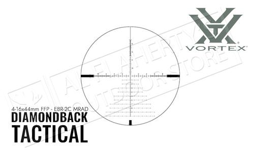 Vortex Diamondback Tactical 4-16X44 FFP EBR-2C MRAD Reticle #DBK-10027