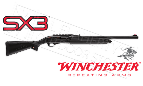 "WINCHESTER SX3 CANTILEVER BUCK 12 OR 20 GAUGE, 3"" CHAMBER, 22"" RIFLED BARREL BLACK SYNTHETIC W/IRON SIGHTS"
