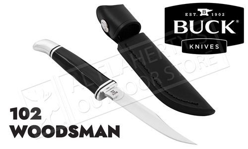 Buck Knives 102 Woodsman - Black Phenolic #0102BKS-B