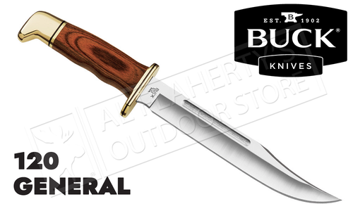 Buck Knives 120 General with Cocobola Grip & Leather Sheath #0120BRS-B