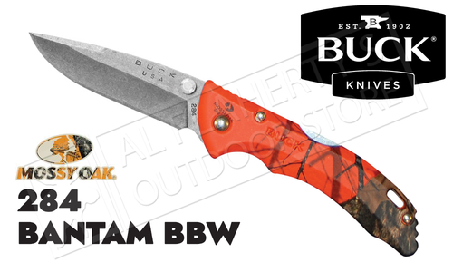 Buck Knives 284 Bantam BBW Folder in Mossy Oak Blaze Camo #0284CMS9-B