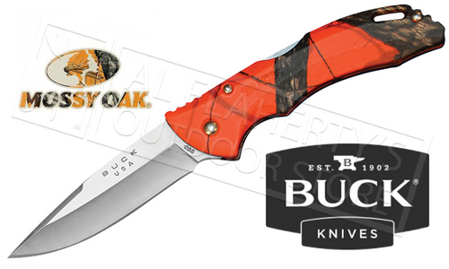 BUCK BANTAM BLW KNIFE IN MOSSY OAK BLAZE CAMO #3285CMS9B