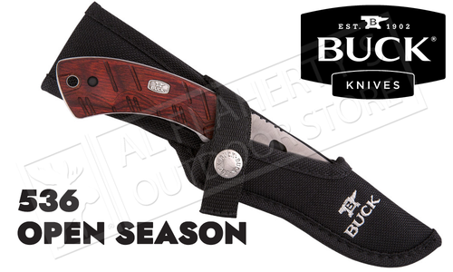 Buck Knives Open Season Skinner Knife with Sheath #536RWS-B
