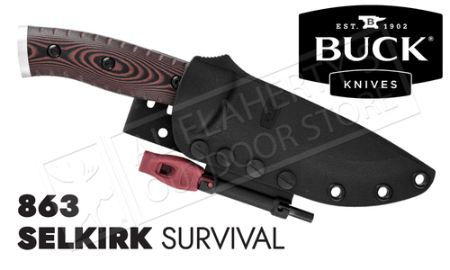 Buck Knives 863 Selkirk Survival Knife with Fire-Starter #0863BRS-B