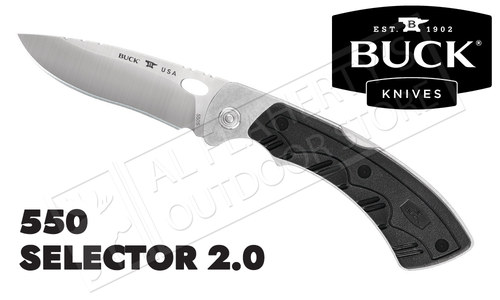 Buck Knives 550 Selector 2.0 Folder with Interchangeable Blades #0550BKS1-B