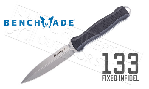 BENCHMADE 133 INFIDEL FIXED BLADE TACTICAL KNIFE #133