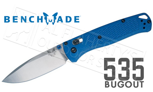 BENCHMADE 535 BUGOUT FOLDING KNIFE WITH PLAIN EDGE #535