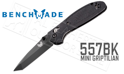BENCHMADE 557 MINI GRIPTILIAN FOLDER WITH TANTO TIP #557BK