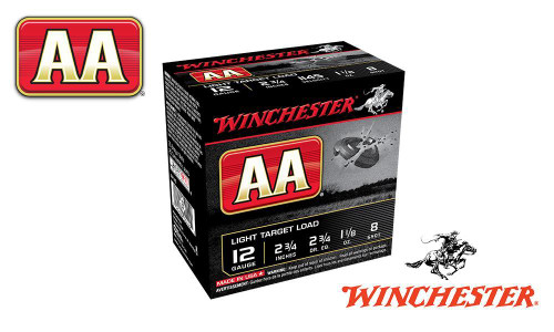 "(STORE PICKUP ONLY) 12 GAUGE - WINCHESTER AA, #8, 2-3/4"", 1-1/8 OZ., CASE OF 250"