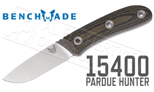 BENCHMADE 15400 PARDUE HUNTER FIXED BLADE KNIFE #15400