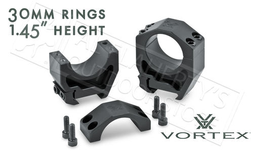 """Vortex Precision Matched Rings 30mm, 1.45"""" Height #PMR-30-145"""