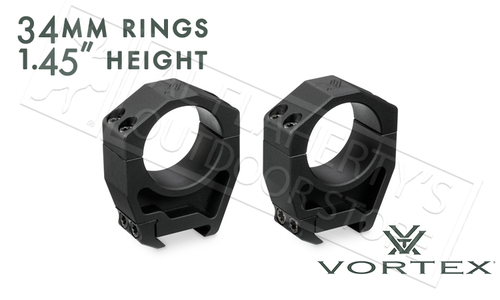 """Vortex Precision Matched Rings 34mm, 1.45"""" Height #PMR-34-145"""