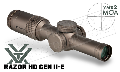 Vortex Razor HD Gen II-E 1-6x24mm Scope with VMR-2 MOA Reticle #RZR16010