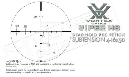 Vortex Viper HS 4-16x50mm Scope with BDC Reticle #VHS-4307