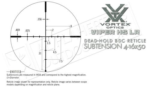 Vortex Viper HS LR 4-16x50mm Scope with BDC Reticle #VHS-4307-LR
