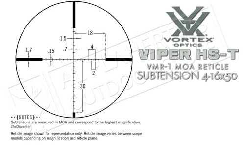 Vortex Viper HS T 4-16x44mm Scope with VMR-1 MOA Reticle #VHS-4309