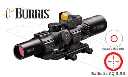 Burris Scope MTAC Combo 1-4x24mm 30mm Tube w/FastFire III & P.E.P.R. Mount, Ballistic CQ 5.56 Reticle #200437-FF