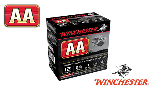 "(STORE PICKUP ONLY) 12 GAUGE - WINCHESTER AA SUPER-HANDICAP, #8, 2-3/4"", 1-1/8 OZ., CASE OF 250"