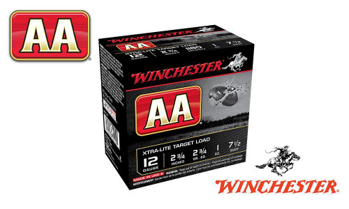 """(STORE PICKUP ONLY) 12 GAUGE - WINCHESTER AA XTRA-LITE TARGET LOAD, #7.5, 2-3/4"""", 1 OZ., CASE OF 250"""