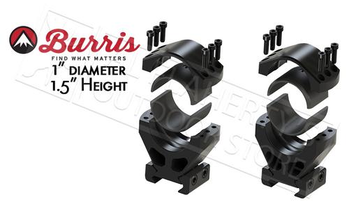 "Burris XTR Signature Rings, 1"" Diameter 1.5"" Height Customizable Cant #420233"