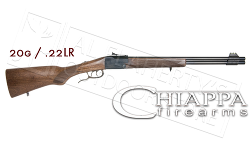 "Chiappa Double Badger Folding Shotgun & Rifle, 20 Gauge 3"" & .22LR #500.190"
