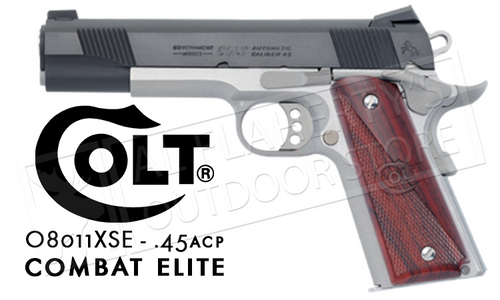 Colt 1911 XSE Combat Elite Government Frame 45ACP #08011XSE