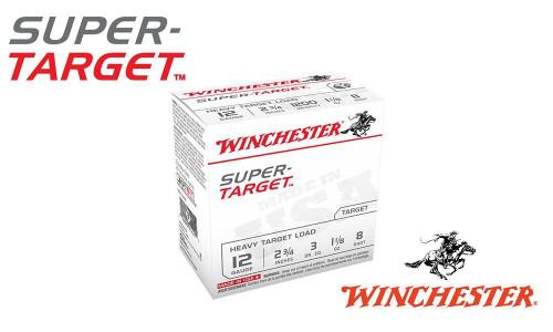"(STORE PICKUP ONLY) 12 GAUGE - WINCHESTER SUPER-TARGET, #8, 2-3/4"", 1-1/8 OZ. 3 DRAM, CASE OF 250"