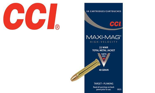 CCI 22 Win Mag Maxi Mag Rimfire Ammunition, Box of 50 #0023
