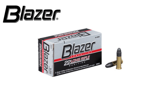 CCI Blazer 22LR Target Ammunition, 40 Grain, High Velocity, Pack of 50 #00021