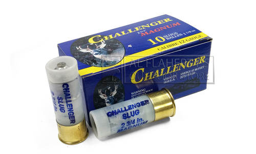 "Challenger Magnum Rifled Slugs 12 Gauge 2-3/4"", 1-1/8 oz., Pack of 10 #0200"