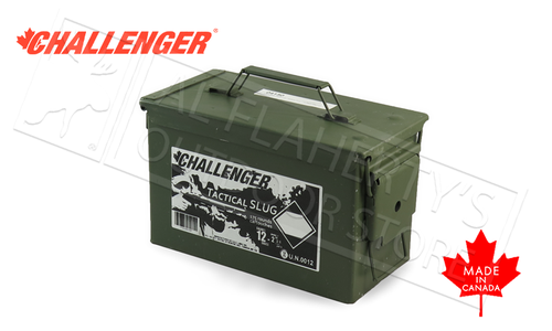 "Challenger Target Slugs 12 Gauge 2-3/4"" 1 oz. Low Recoil, Can of 175 Shells #04150"
