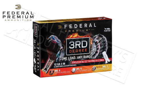 "Federal 3rd Degree Turkey Shells 12 Gauge 3"" 1-3/4 oz. Load Mixed 5/6/7 Shot #PTDX157567"